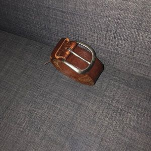 Brown belt with simple buckle